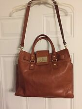 "Calvin Klein Light Brown Leather Tote Shoulder Handbag  Purse 12""x15"" #54163"