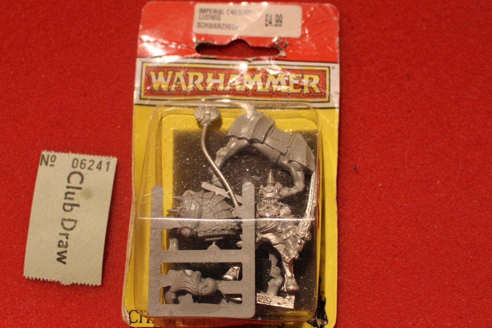 Games workshop warhammer empire ludwig schwarzhelm imperial held bnib metall