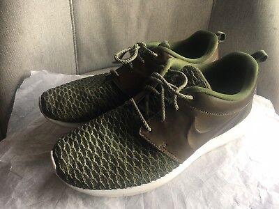 Nike Roshe Run Olive Green Leathermesh Men's Shoes Size 8.5 | eBay