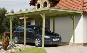 einzelcarport 3x5 m carport garage holz unterstand. Black Bedroom Furniture Sets. Home Design Ideas