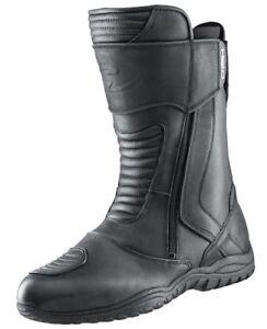 Stivali-Touring-HELD-SHACK-GR-47-pelle-impermeabile-membrana-Nero-NUOVO