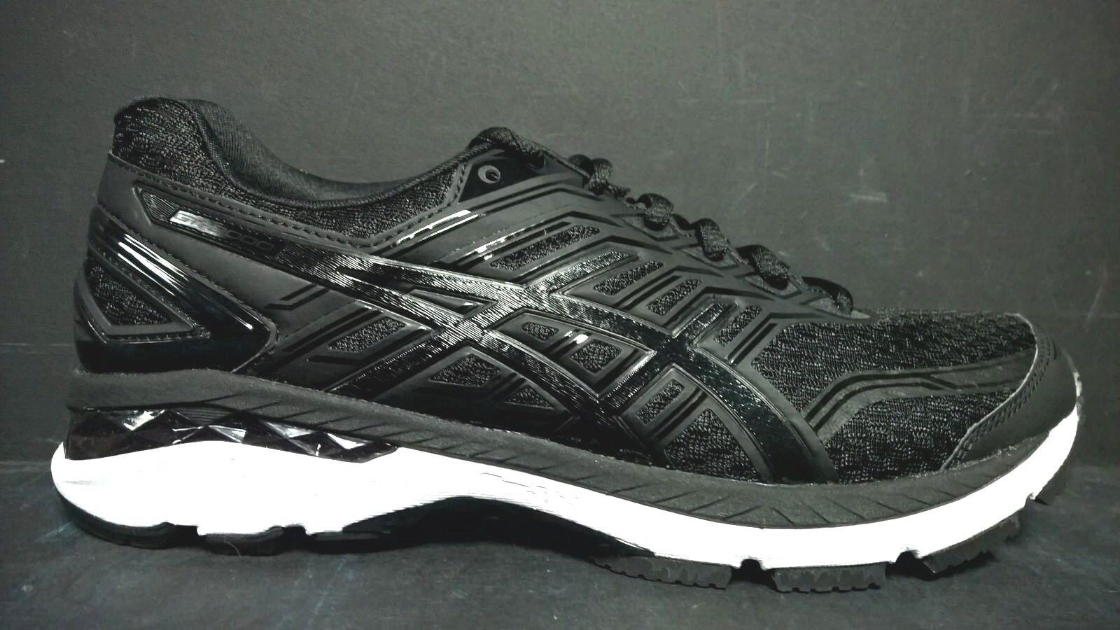 Asics Men's Size 8.5 T707N 9099 GT-2000 5 Running Shoes Black White
