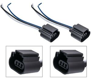Wire-Pigtail-Female-P-9008-H13-Two-Harness-Head-Light-Bulb-Socket-Connector-Plug