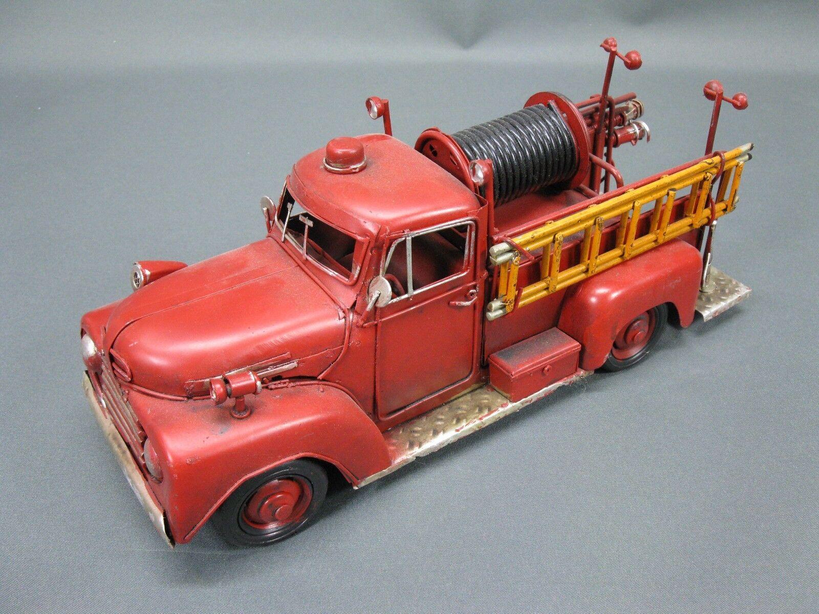 Vieja bomberos maqueta de coche auto de de de chapa 30 cm bomberos Oldtimer auto us Car ee89d3