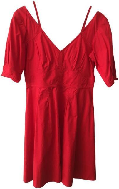 Derek Lam Womens Red Cotton Dress New NWT 10