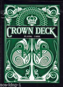 3-new-decks-GREEN-CROWN-PLAYING-CARDS-by-bicycle-USPCC
