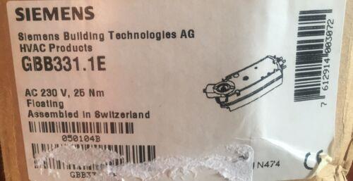 Siemens GBB331.1E Amortiguador de Aire Giratorio Actuador de 3 posiciones 25 casi como nuevo 230 V 150 S