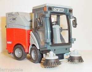 Pair (2) of Sub Compact Station Sweeper Trucks Miniature 1/24 Scl Diorama Items