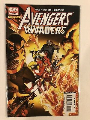 AVENGERS INVADERS #3 OF 12 VF//NM ALEX ROSS COVER 2008