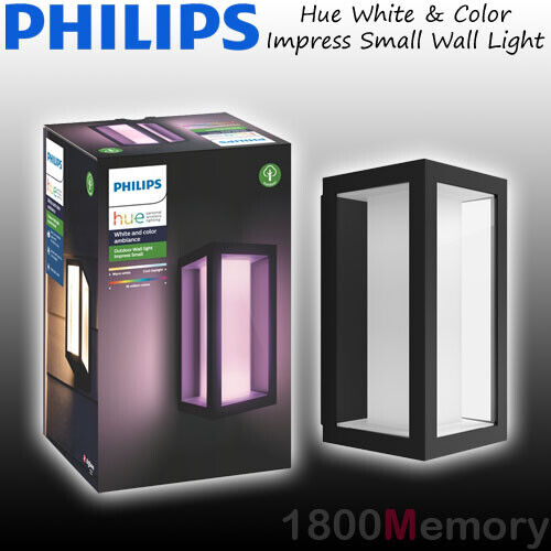 Philips Hue White Color Ambiance Impress Outdoor Wall Light Lantern Led Ip44