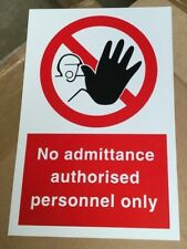 3 x UNDER 18 administrativement Sign-No Minor allowed waterproof Adhesive 100 mm Autocollant