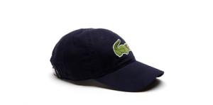 Lacoste Men's Big Croc Adjustable Gabardine Cap Hat RK8217 Navy bluee
