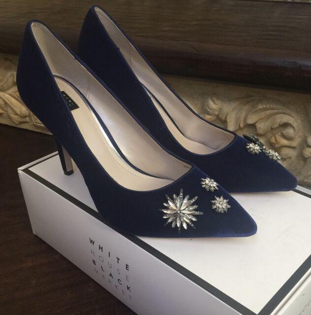 28e9c1c9b729 White House Black Market Olivia Velvet PUMPS Shoes Size 8 for sale ...