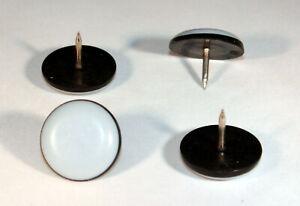 100 Teflongleiter mit Nagel Ø 30 mm Rund PTFE-Gleiter Untersetzer Möbelgleiter