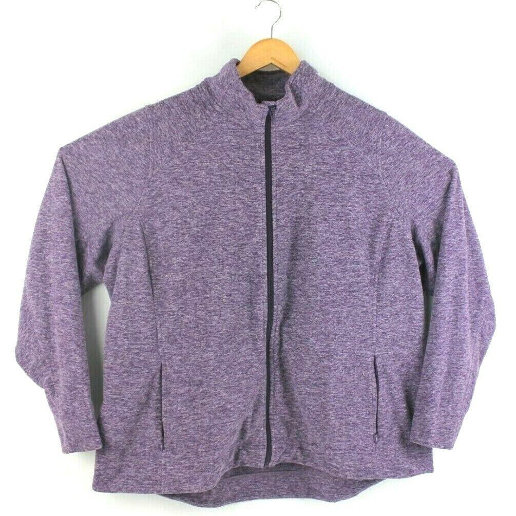 Duluth Trading Company Women's Size 2XL Frost Lake Purple Fleece Full Zip Jacket