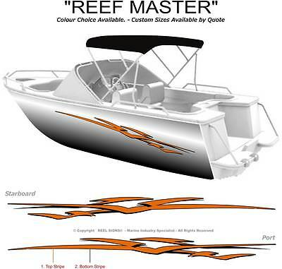 "BOAT GRAPHICS  DECAL STICKER KIT /""WAVE CUTTER 1800/"" MARINE CAST VINYL"