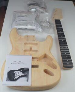 Strat Electric Guitar Kit Guitar Unfinished All Parts Uk Unbranded Diy Pack St Ebay