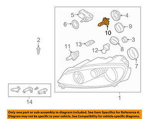 vw volkswagen oem 98 10 passat headlight headlamp bulb n10320102 ebay rh ebay com