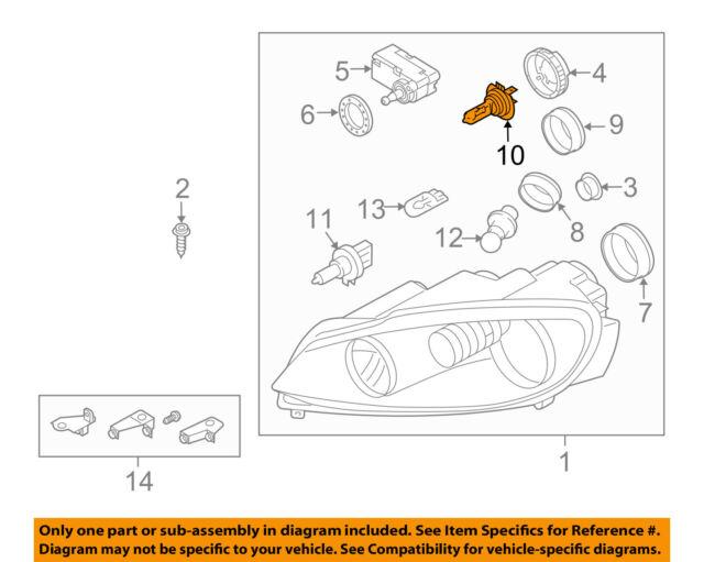 vw volkswagen oem 98 10 passat headlight headlamp bulb n10320102 ebay rh ebay com Headlight Parts Diagram 1980 Toyota Pickup Headlight Wiring Diagram