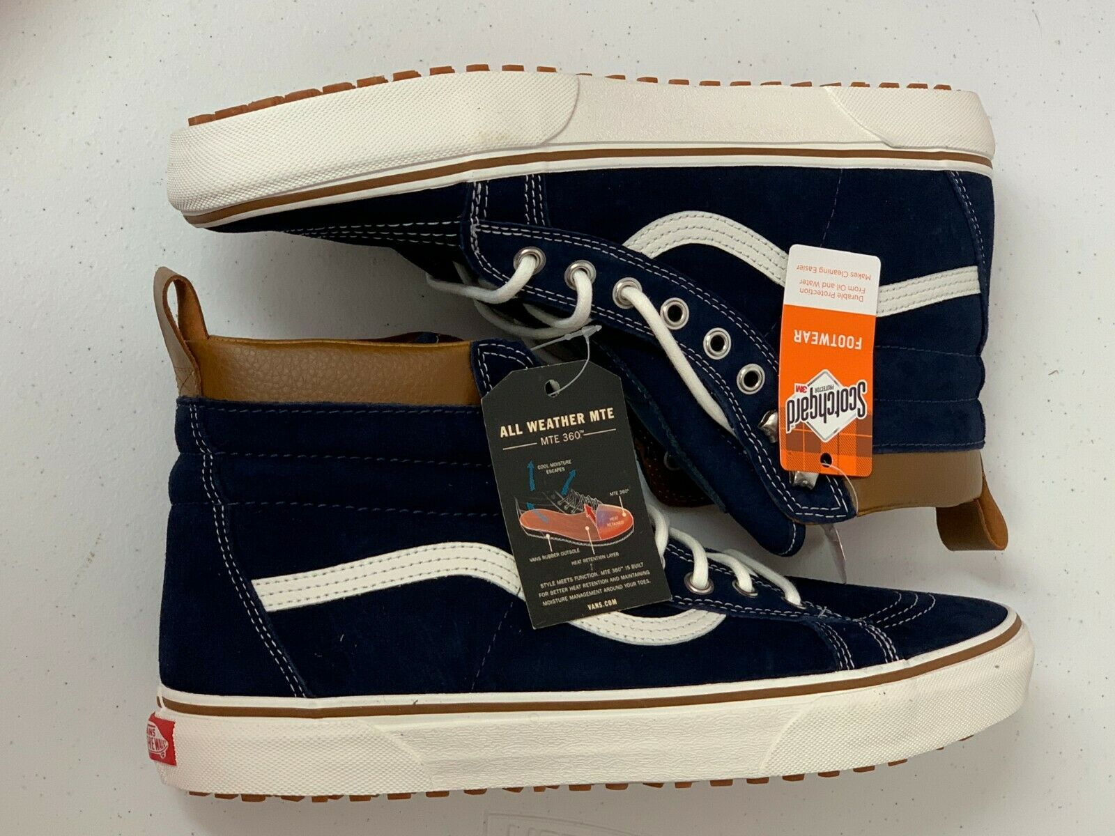 Vans SK8-HI MTE Dress bluees Marshmallow Men's Sz 12 VN0A33TXRIY