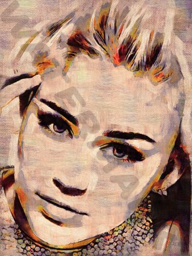 MILEY CYRUS ART PRINT POSTER OIL PAINTING LLFF0129