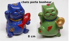 lot de 2 chats porte bonheur Japonais, bonheur, prospérité lot N°2 **CL7