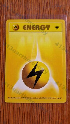 "Pokemon 1ST EDITION SHADOWLESS 100//102  /""Lighting Energy/""  NMint-Mint"