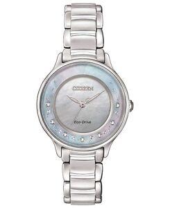 CITIZEN EM0380-65D Eco-Drive Ladies Solar Diamond Watch Luxury RRP $1100.00