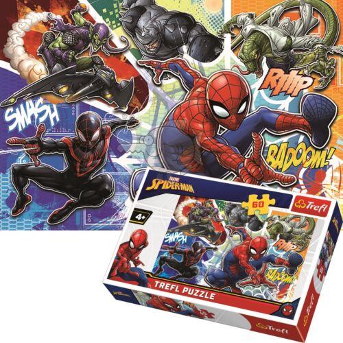 Trefl 60 Piece Jigsaw Puzzle For Kids Marvel Brave Spiderman