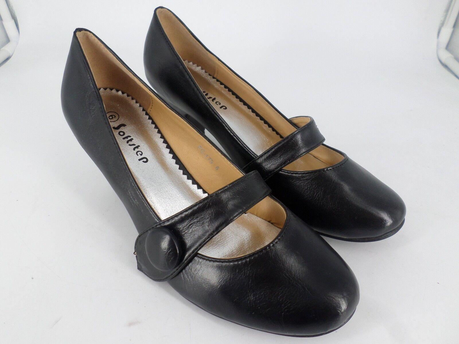Soft Step Ladies Black Low Heeled Court Shoes UK 6 EU 39 LN36 07