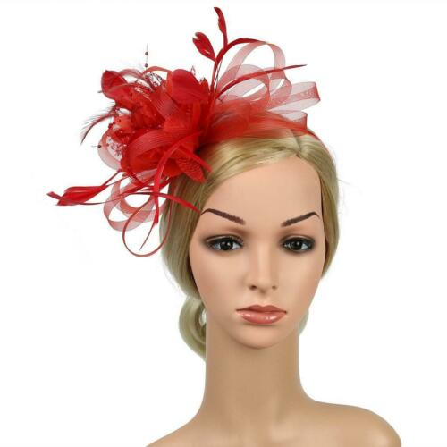 Feder geschlungenes Stirnband Alice Band Fascinator Haarspange Damen Tag