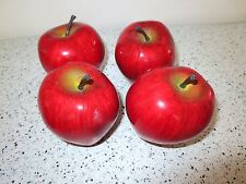 "Play Foods FRUIT Realistic Size Lot of 4 Apples 3""    Z3"