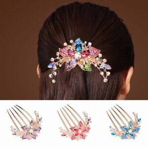 Hairpin Hair Inlaid Headwear Comb Rhinestone Accessory Flower Elegant Hot Women