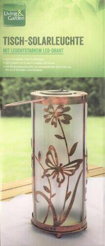 Living /& garden Solar Standleuchte Schmetterling rund