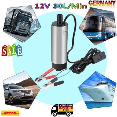 Edelstahl Tauchpumpe 38 mm Diesel Öl Wasserpumpe Bootpumpe Transfer Auto KFZ 12V