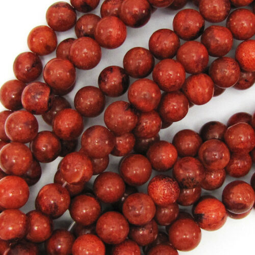 "Red Sponge Coral Round Beads Gemstone 15.5/"" Strand 4mm 6mm 8mm 10mm 12mm"