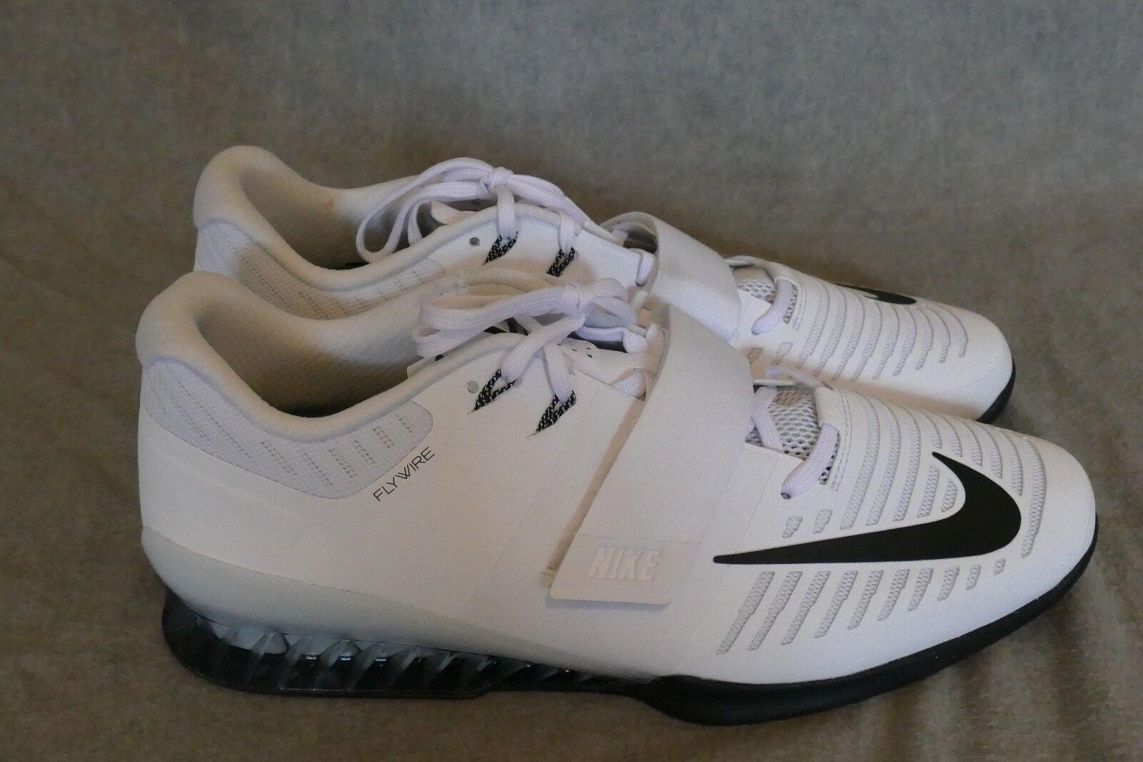 Nike Romaleos 3 Weightlifting Crossfit Training White Black 852933-100 Size 16