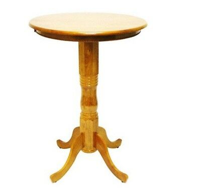 Pub Height Table Tall Bar Tables Dining Round Kitchen High 42 Wood Counter Room 697111981917 Ebay