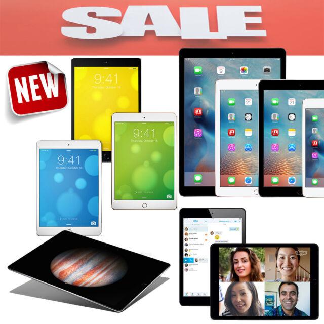 iPad Air 1/2,mini,2,3,4 Sprint/AT&T-Mobile/Verizon/Wifi 16GB/32GB/64GB/128GB