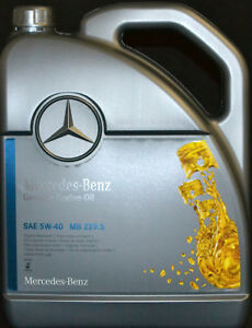5 liter original mercedes benz 5w40 pkw motor l mb 229 5 synthetic l 5w 40 ebay. Black Bedroom Furniture Sets. Home Design Ideas