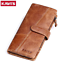 Women-Genuine-Leather-Cowhide-Clutch-Wallet-Holder-Retro-Credit-Card-Long-Purse thumbnail 1
