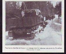 1925  --  ISERE DAUPHINE  TRACTEUR A CHENILLES  N207