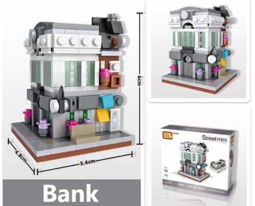 Street View Bank LOZ BLOCK Mini Building Block Nanoblock iBlock a GTC