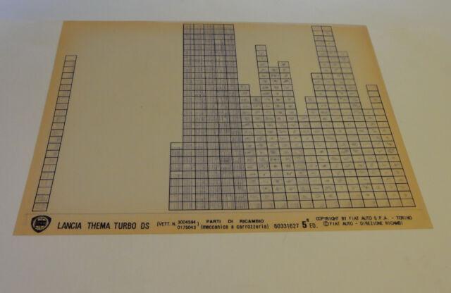 Microfiche Spare Parts Catalog Lancia Thema Turbo Ds