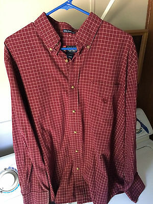 Ralph Lauren Chaps mens LARGE red buttonfront