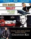 Bullitt Cincinnati Kid Getaway 0883929251193 With Steve McQueen Blu-ray