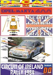 DECAL-OPEL-MANTA-400-034-GOLD-CARD-034-B-FISHER-CIRCUIT-OF-IRELAND-R-1984-DnF-01