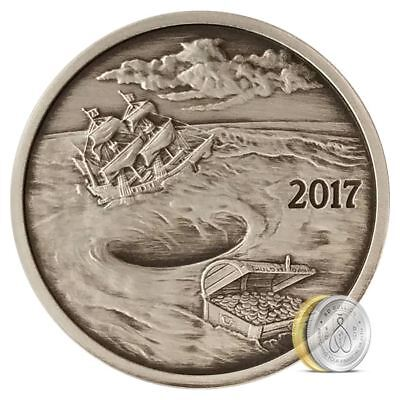2015 Finding Silverbug Island 1 oz .999 Silver Coin Antique Proof 2000 Mintage