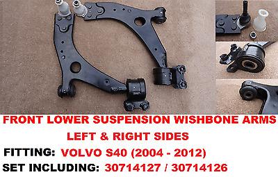 Volvo S40 2004/>2012 Front Lower Control Suspension Wishbone Arm 18mm Lh Rh Pair