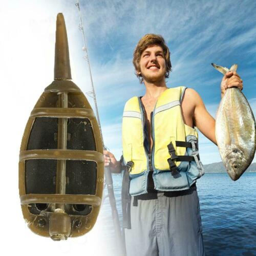 10PCS 30g INLINE METHOD FEEDERS FLAT SWIM FEEDERS NGT CARP TACKLE FISHING B G9V9